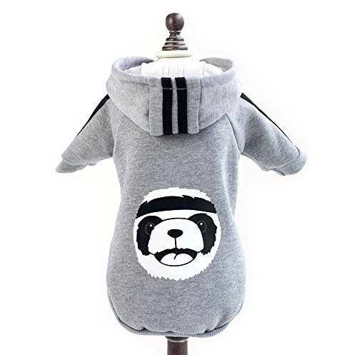 zunea Panda Warm Dick Hoodie Kleiner Hund Katze Jacke Fleece Sweatshirt Winter Pet Sweater Puppy T-Shirt Mantel Kleidung Apparel von Zunea