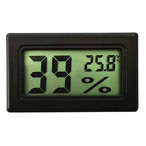 diymore Digital LCD Display Thermometer Hygrometer Indoor Outdoor Weather Temperature Sensor Humidity Meter Gauge Tester Instrument Accurate Readings for Home and Office (Black) von diymore