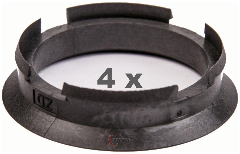 4 x Zentrierringe 67.0 mm auf 59.1 mm grau//grey