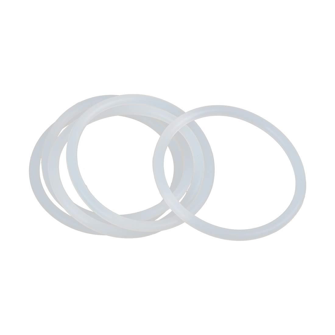 sourcing map 40 STK O-Ring VMQ Dichtungsscheiben Silikon Gummi 30mm x 4mm Braun f/ür Auto